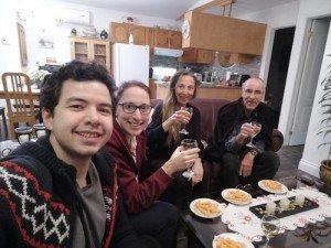 -2020-01-12 Canada Apéro à St Honoré Ludo Margaux Vero Patrick