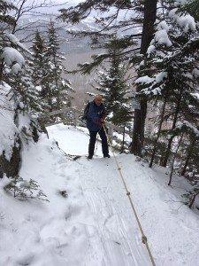 IMG_3120 2020-01-06 Canada Ste Brigitte de Laval - Sentier de la montagne à 2 têtes Patrick la corde