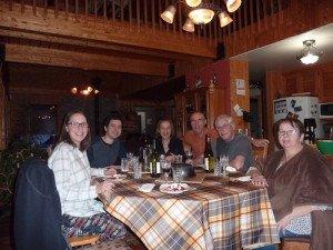 P1070954 2020-01-10 Canada Chibougamau La fondue Margaux Ludo Vero Patrick Christian Sylvie
