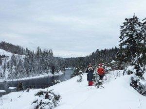 P1080064 2020-01-13 Canada Saint Honoré Sentier de la rivière Shipshaw - Chute Gagnon Ludo Vero Margaux