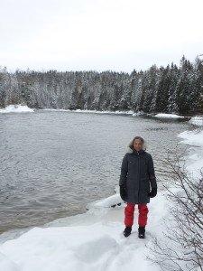 P1080076 2020-01-13 Canada Saint Honoré Sentier de la rivière Shipshaw - Chute Gagnon Vero