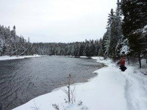 P1080084 2020-01-13 Canada Saint Honoré Sentier de la rivière Shipshaw - Chute Gagnon